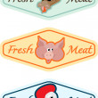 Fresh food badges — Stockvectorbeeld