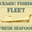 Oceanic fishing fleet — Stockvectorbeeld