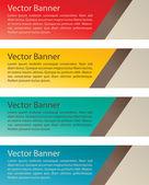 Einfachen vektor-banner — Stockvektor
