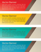Banners de vetor simples — Vetorial Stock