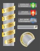 Website badges — Stock Vector