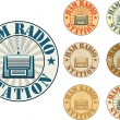 Stock Vector: Ham radio station