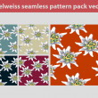 Edelweiss pattern pack — Stock Vector