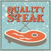 Qualität-steak — Stockvektor