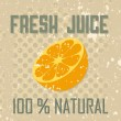 Stock Vector: Fresh juice