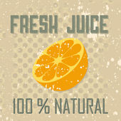 Fresh juice — Stock Vector