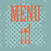 Vintage menu — Stock Vector
