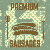 Premium sausages — Vector de stock