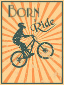Born to ride — Stock Vector