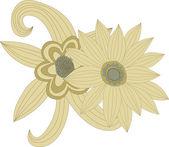 Dê flores desenhadas — Vetor de Stock