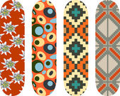Skateboard designs — Stock Vector