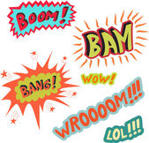 Boom bang — Stock Vector