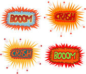 Boom crash — Stock Vector