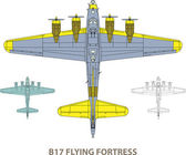 B17 Flying Fortress — Stock Vector