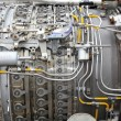 Aircraft turbojet engine - Stock Photo