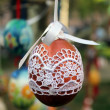 Easter Egg - traditional knitting decoration (Ukraine) — Stock Photo