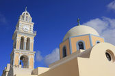 Catholic Church on Santorini Island, Fira, Greece. — Stock Photo