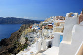 Amazing romantic view of Oia village at Santorini island, Greece — Stock Photo