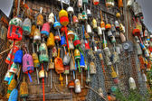 Wall of buoys — Stock Photo