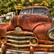 Stock Photo: Rusty Pontiac Streamliner 2