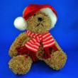 Teddy Bear Santa — Stock Photo