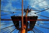 Crows nest rigging 76 — Stock Photo