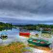Row boats on calm water 73 - Stock Photo