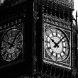 Ten past ten on Big Ben in silhouette — Stock Photo