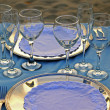 Stock Photo: Tropical wedding place setting 06
