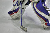 Goalie pads — Stock Photo