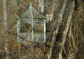 беседка и лестницы — Стоковое фото