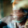 Abstract Portrait of the Asmat warrior — Стоковая фотография
