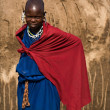 Stock Photo: Portrait of enigmatic masai girl. Tanzani.Africa.