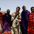 Masai with photographer. — Stock Photo #14551739