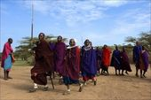 Masai dance. — Stock Photo
