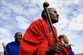 Dancing Maasai portrait. — Stock Photo