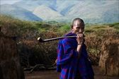 Portrait of maasai man. — Stock Photo