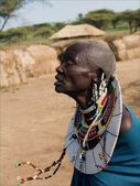 Old masai woman. — Stock Photo