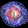 Zodiac clock — Stock Photo