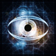 Stockfoto: Eye of artificial intelligence