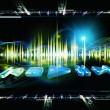 Stock Photo: Sound landscape