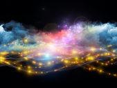 分形泡沫的灯 — 图库照片