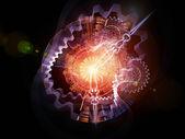 时钟的宇宙 — 图库照片