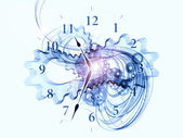 Exploded clock — Stock Photo
