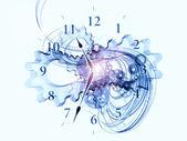 爆炸的时钟 — 图库照片