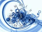 时间的研究进展 — 图库照片