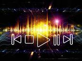 Energy of music — Stock Photo