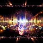 Propagation of music — Stock Photo