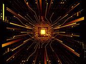 Virtual Life of CPU — Stock Photo