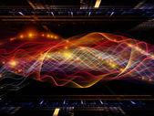 正弦波的安排 — 图库照片